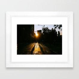 Shadowplay in the Golden Hour Framed Art Print