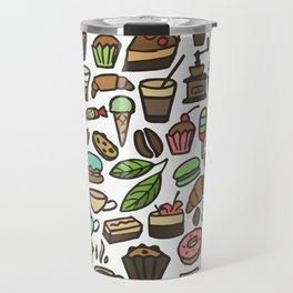 Coffee and pastry. Travel Mug