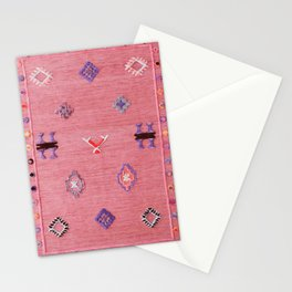 N61 - Lovely Pink Traditional Boho Farmhouse Moroccan Style Artwork Stationery Cards