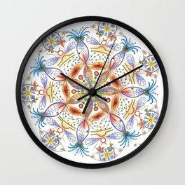Mother Earth Mandala Wall Clock