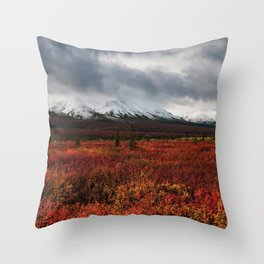 The Red Field Throw Pillow