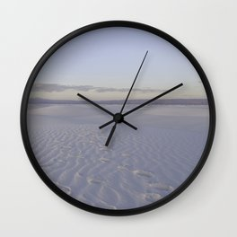 Road Trip Views - White Sands, New Mexico Wall Clock