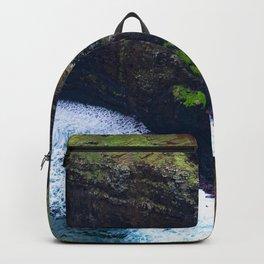 Coastal Cliffs Hawaiian Tropical Beach Backpack