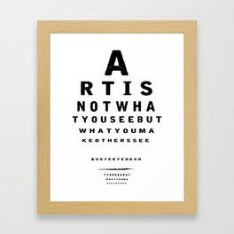 the abc Framed Art Print