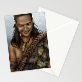 Nasir's Sneaky Smile (Nagron, Spartacus) Color Version Stationery Cards