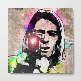 K. Cobain Grunge Metal Print