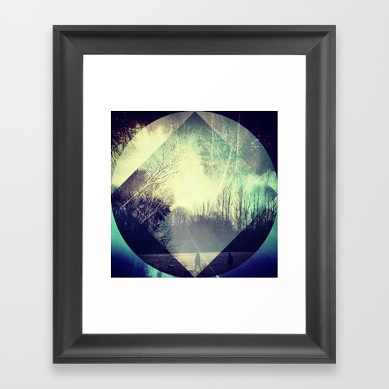 layers of a park.  Framed Art Print