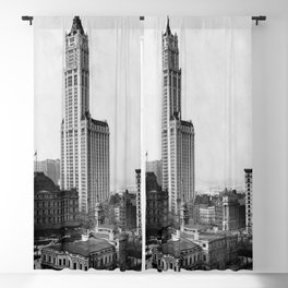 Woolworth Building, New York City 1913 Blackout Curtain