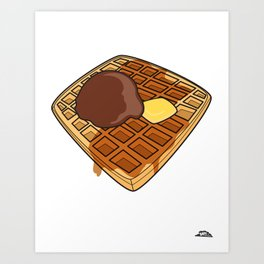 Waffle Time is Anytime. Art Print