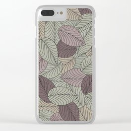 Vector Seamless Leaves Pattern II Clear iPhone Case