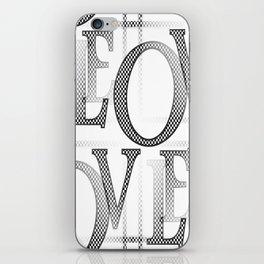 Jumbled Love iPhone Skin