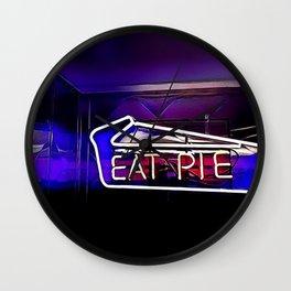 Eat Pie Wall Clock