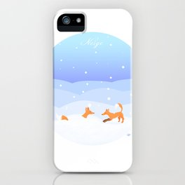Snow - Neige greeting card iPhone Case