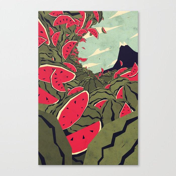 Watermelon surf dream Canvas Print