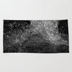 Splash in Black and White Beach Towel