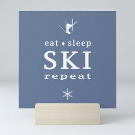 Eat Sleep SKI repeat Mini Art Print