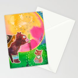 Family bear - animal - by LiliFlore Stationery Cards