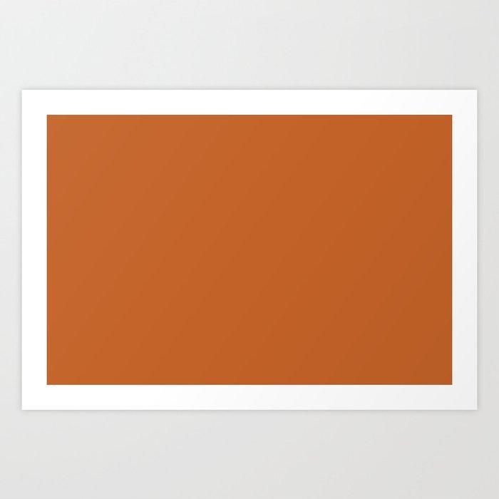 Pantone 17-1145 Autumn Maple Art Print