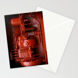 Red Tractor motor Stationery Cards