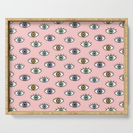 Eyes Pattern Serving Tray
