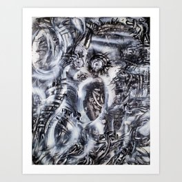 Skeletal Cogs Building The Future HorrorFlesh Art Print