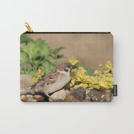 Sparrow at water Carry-All Pouch