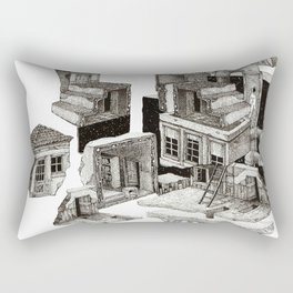 desconstruction Rectangular Pillow