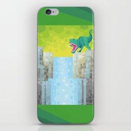 Dino Falls iPhone Skin