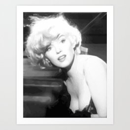 Some like it hot - Screen Print Effect Art Print