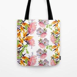 Lush Watercolor Florals Tote Bag