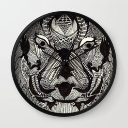 Tiger by Mieke Kristine Wall Clock