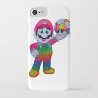 mario bros iPhone & iPod Cases featuring Mario Bros by Luna Portnoi