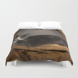 Cat on tree Duvet Cover