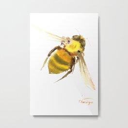 Bee, bee art, bee design Metal Print