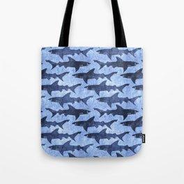 Blue Ocean Shark Tote Bag