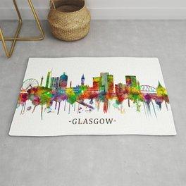 Glasgow Scotland Skyline Rug
