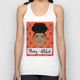 Strong doesn't equal attitude Unisex Tank Top