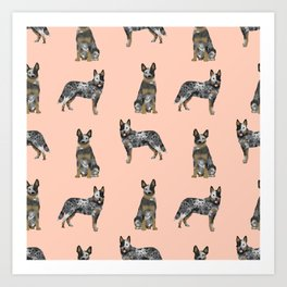 Australian Cattle Dog blue heeler dog breed gifts for cattle dog owners Art Print