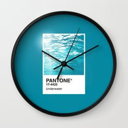 Pantone Series – Underwater Wall Clock