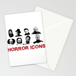 hORROR iCONS Stationery Cards
