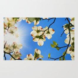 Sunlit Dogwood Blooms Rug