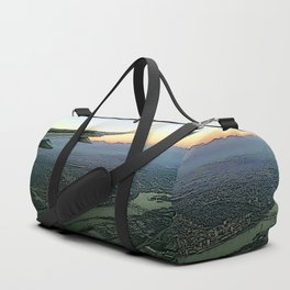 Landing together with the sun Duffle Bag