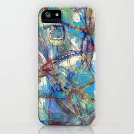 Dragonflies in blue iPhone Case