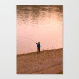 Rhine Fisherman Canvas Print
