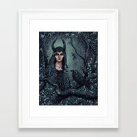 maleficent Framed Art Prints featuring Maleficent by Angela Rizza