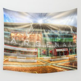 Arsenal Football Club Emirates Stadium London Sun Rays Wall Tapestry