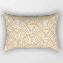 Beige Seigaiha Rectangular Pillow