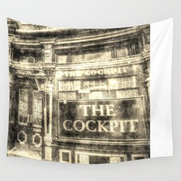 The Cockpit Pub London Vintage Wall Tapestry