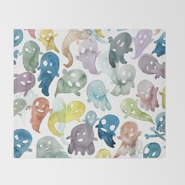 Happy Ghosts Throw Blanket