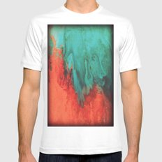 Vintage red and blue MEDIUM Mens Fitted Tee White